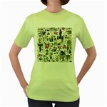 Medieval Mash Up Women s T-shirt (Green)