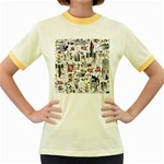 Medieval Mash Up Women s Ringer T-shirt (Colored)