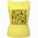 Medieval Mash Up Women s Tank Top (Yellow)