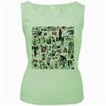 Medieval Mash Up Women s Tank Top (Green)