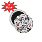 Medieval Mash Up 1.75  Button Magnet (10 pack)
