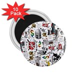 Medieval Mash Up 2.25  Button Magnet (10 pack)