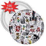 Medieval Mash Up 3  Button (100 pack)