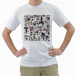 Medieval Mash Up Men s Two-sided T-shirt (White)