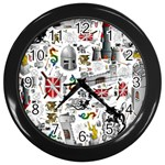 Medieval Mash Up Wall Clock (Black)