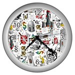 Medieval Mash Up Wall Clock (Silver)