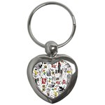 Medieval Mash Up Key Chain (Heart)