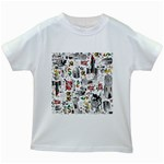 Medieval Mash Up Kids T-shirt (White)