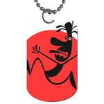 Running Man Dog Tag (One Sided)
