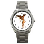 Apricot Sport Metal Watch