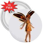 Apricot 3  Button (10 pack)
