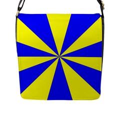 Pattern Flap Closure Messenger Bag (large) by Siebenhuehner