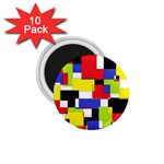 Mod Geometric 1.75  Button Magnet (10 pack)