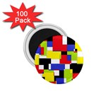 Mod Geometric 1.75  Button Magnet (100 pack)