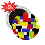 Mod Geometric 2.25  Button Magnet (10 pack)