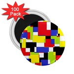 Mod Geometric 2.25  Button Magnet (100 pack)