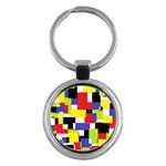 Mod Geometric Key Chain (Round)