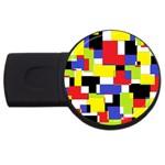 Mod Geometric 2GB USB Flash Drive (Round)