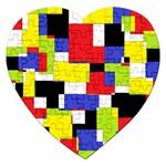 Mod Geometric Jigsaw Puzzle (Heart)