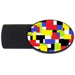 Mod Geometric 4GB USB Flash Drive (Oval)