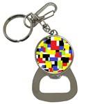 Mod Geometric Bottle Opener Key Chain