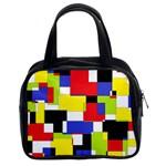Mod Geometric Classic Handbag (Two Sides)