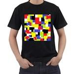 Mod Geometric Men s T-shirt (Black)