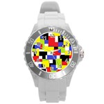 Mod Geometric Plastic Sport Watch (Large)
