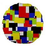 Mod Geometric 18  Premium Round Cushion