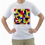 Mod Geometric Men s T-Shirt (White)