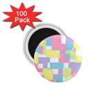 Mod Pastel Geometric 1.75  Button Magnet (100 pack)