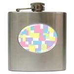 Mod Pastel Geometric Hip Flask