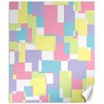 Mod Pastel Geometric Canvas 20  x 24  (Unframed)
