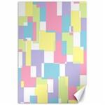 Mod Pastel Geometric Canvas 24  x 36  (Unframed)