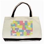 Mod Pastel Geometric Twin-sided Black Tote Bag