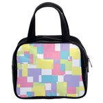 Mod Pastel Geometric Classic Handbag (Two Sides)