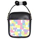 Mod Pastel Geometric Girl s Sling Bag