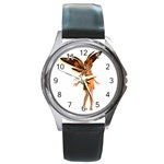 Apricot Round Metal Watch