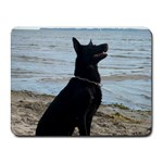 Black German Shepherd Small Mouse Pad (Rectangle)