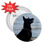 Black German Shepherd 2.25  Button (100 pack)