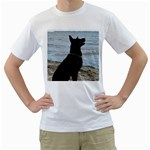 Black German Shepherd Men s Two-sided T-shirt (White)