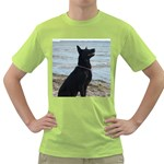 Black German Shepherd Men s T-shirt (Green)