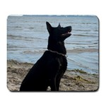 Black German Shepherd Large Mouse Pad (Rectangle)