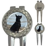 Black German Shepherd Golf Pitchfork & Ball Marker