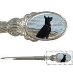 Black German Shepherd Letter Opener