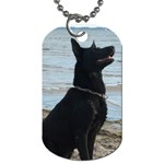 Black German Shepherd Dog Tag (One Sided)