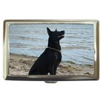 Black German Shepherd Cigarette Money Case