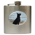 Black German Shepherd Hip Flask