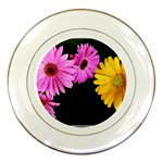 gerbera flowers photo Porcelain Plate