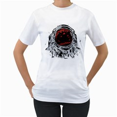 Trouble In The Space Women s T Shirt (white)